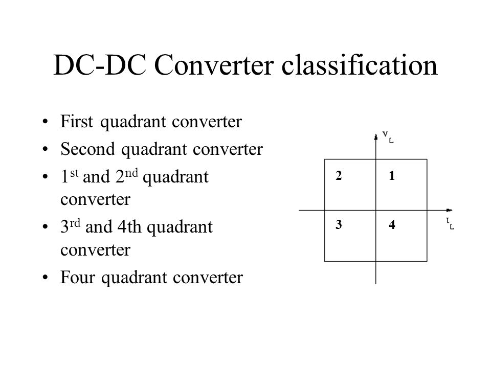 DC-DC Converter classification