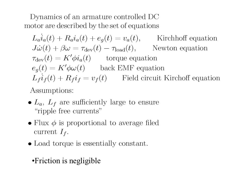 Friction is negligible