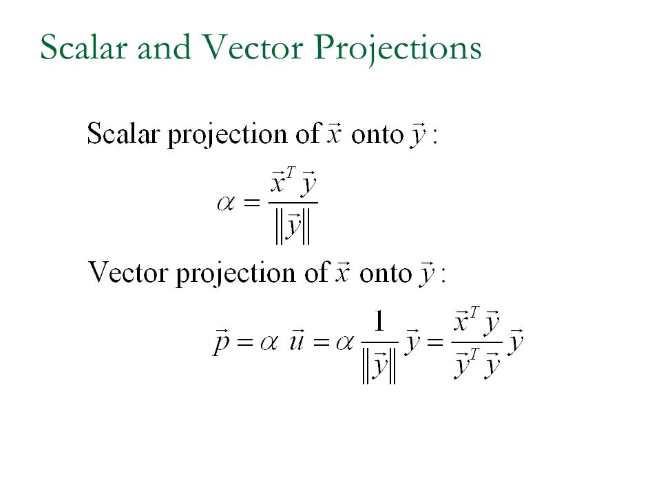 Scalar and Vector Projections