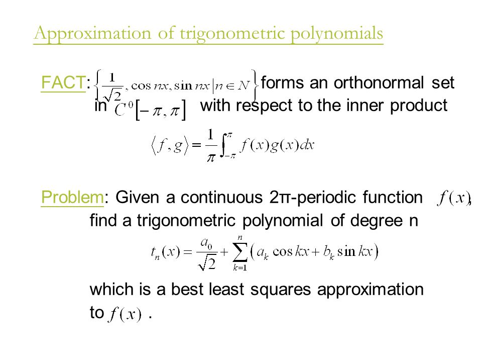 Approximation of trigonometric polynomials
