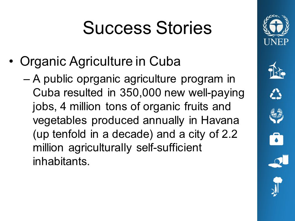 Success Stories Organic Agriculture in Cuba