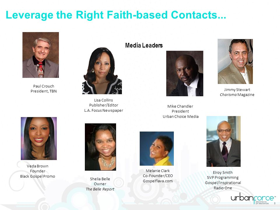 Leverage the Right Faith-based Contacts...