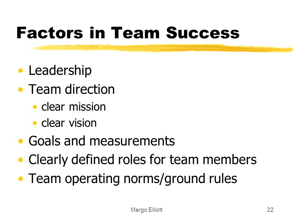 Factors in Team Success