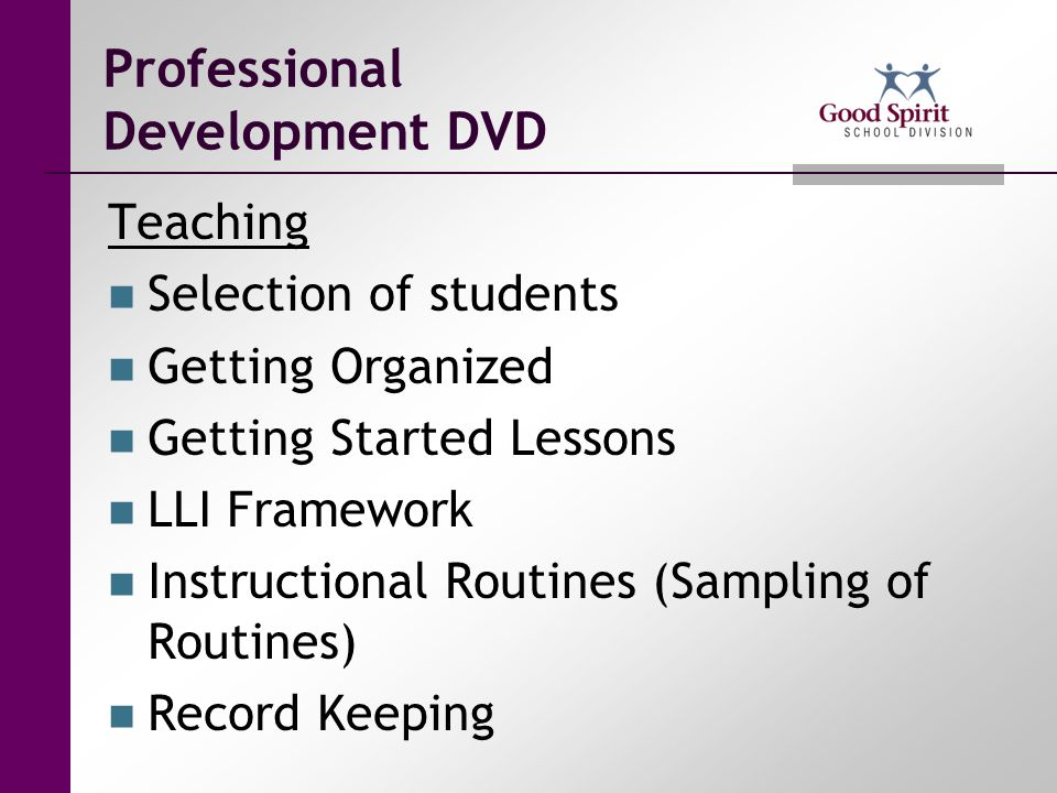 Professional Development DVD