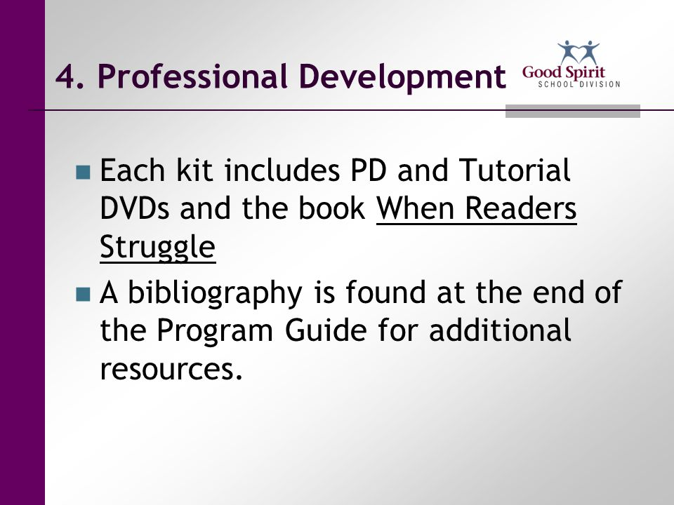4. Professional Development