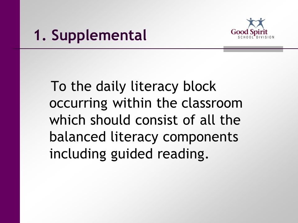 1. Supplemental