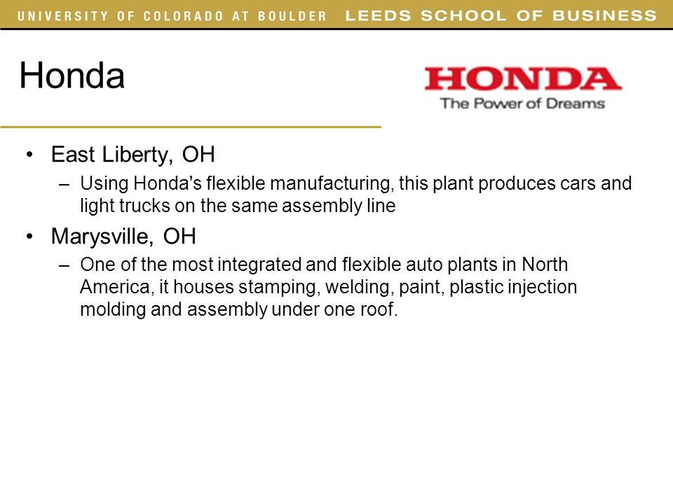 Supply chain management ppt video online download for Honda east liberty ohio