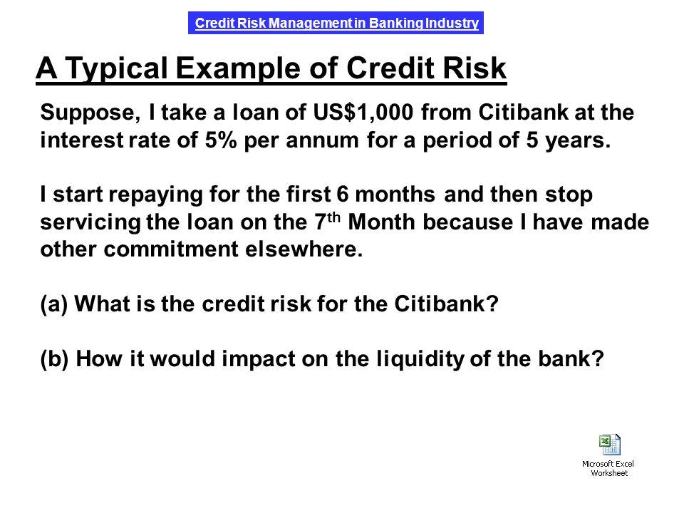 Introduction to credit risk credit risk vs. Market risk credit.