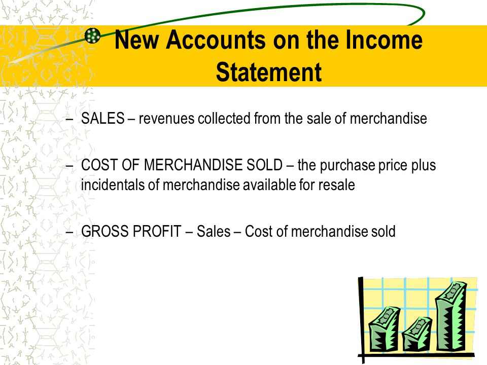 New Accounts on the Income Statement