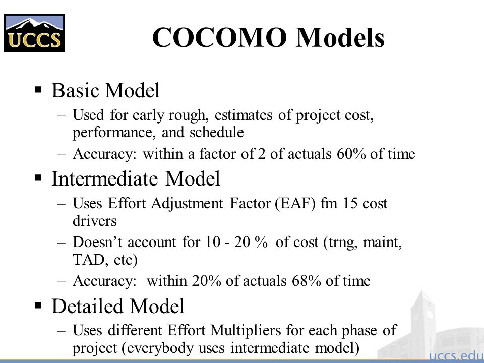 Project estimation and scheduling ppt download 48 cocomo models ccuart Images