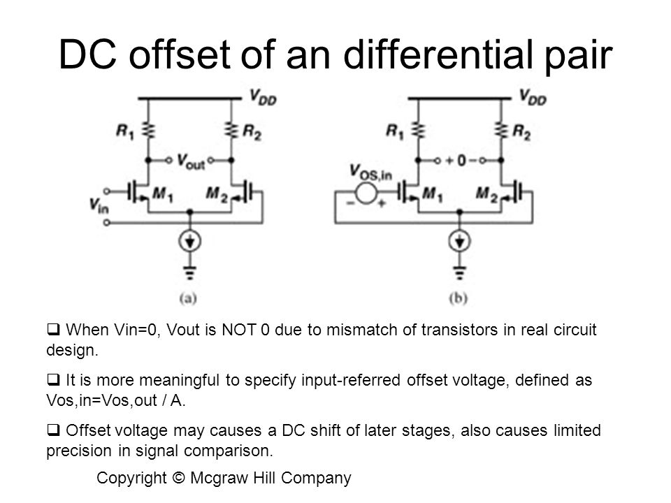 DC offset of an differential pair