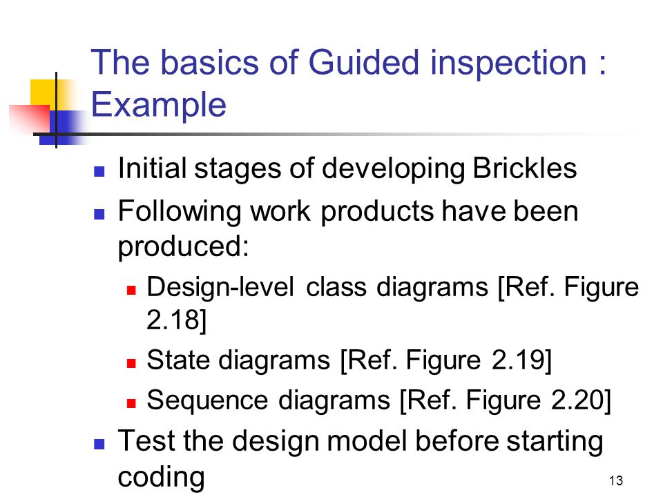 The basics of Guided inspection : Example