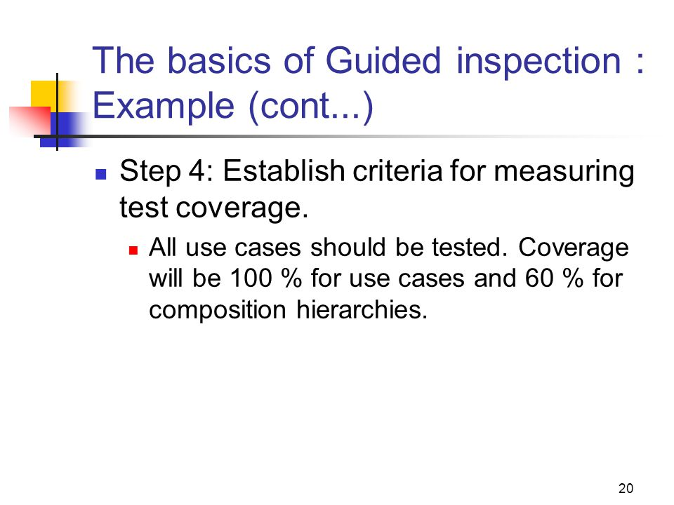 The basics of Guided inspection : Example (cont...)