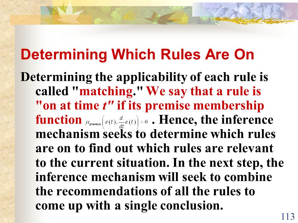Determining Which Rules Are On