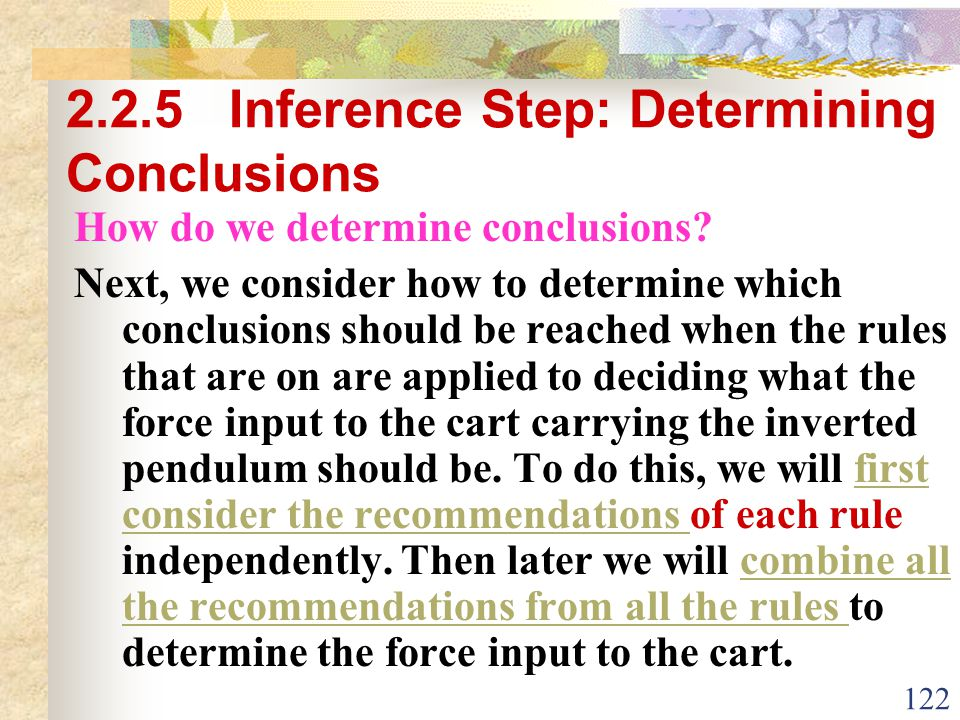 2.2.5 Inference Step: Determining Conclusions
