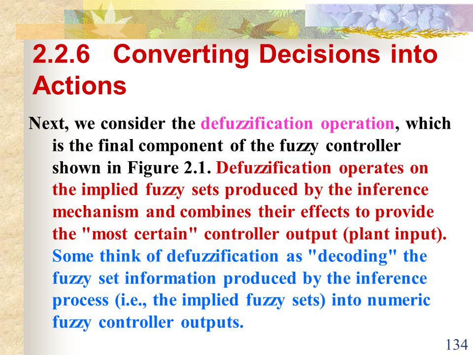 2.2.6 Converting Decisions into Actions