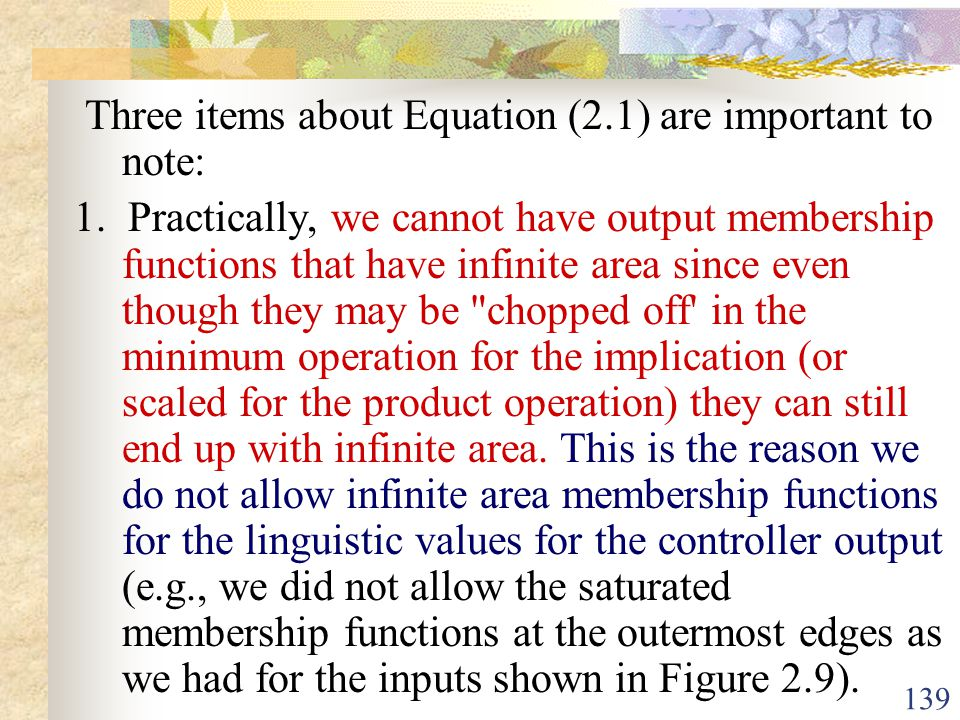 Three items about Equation (2.1) are important to note:
