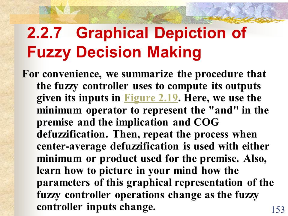 2.2.7 Graphical Depiction of Fuzzy Decision Making