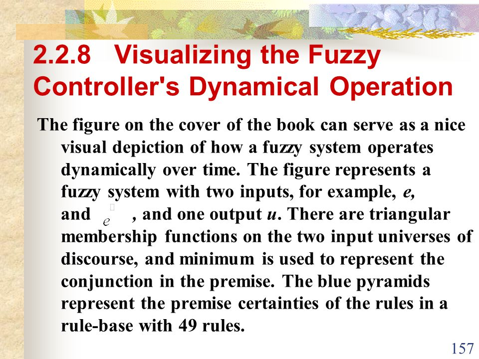 2.2.8 Visualizing the Fuzzy Controller s Dynamical Operation