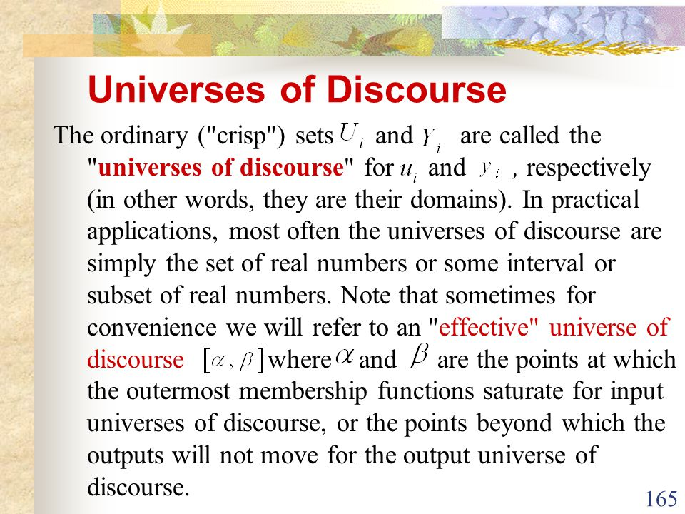 Universes of Discourse