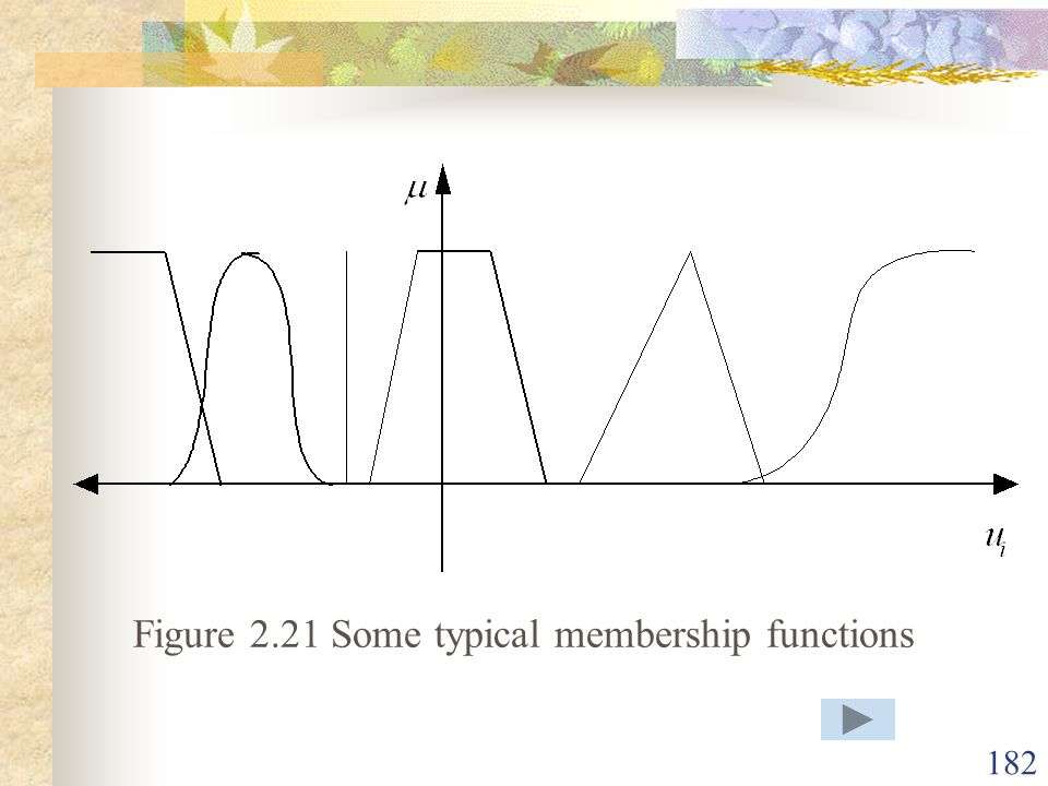 Figure 2.21 Some typical membership functions