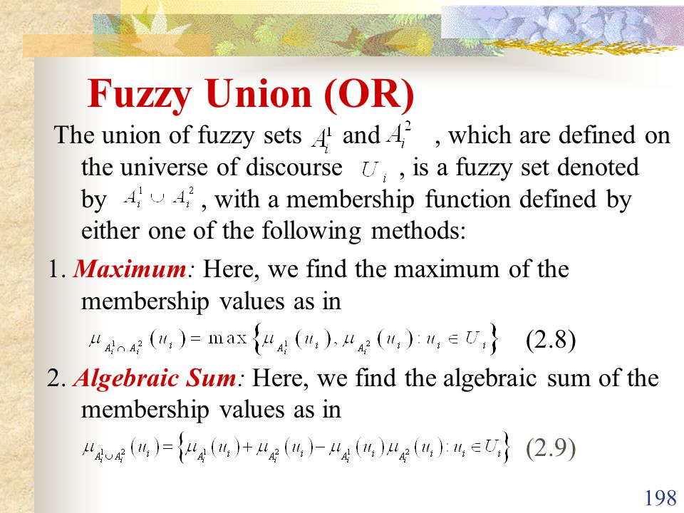 Fuzzy Union (OR)