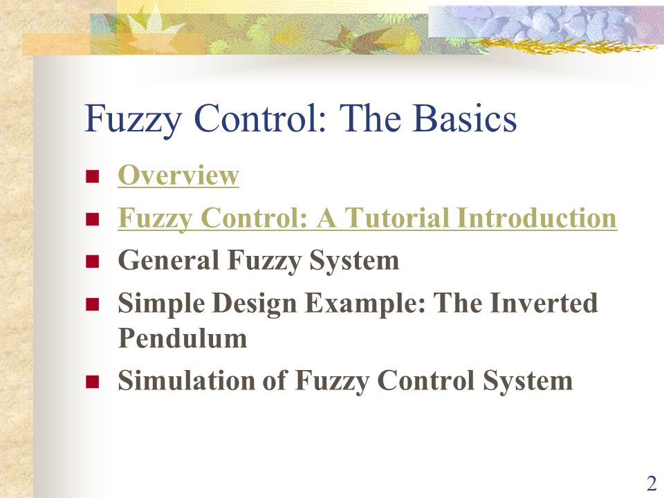 Fuzzy Control: The Basics