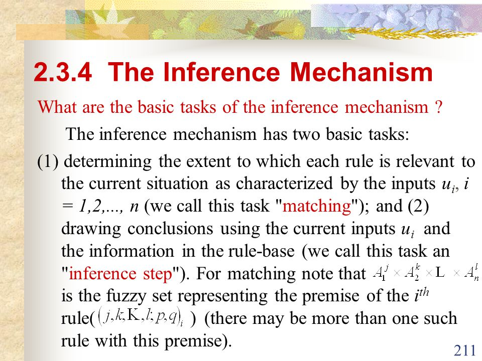 2.3.4 The Inference Mechanism