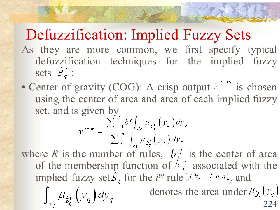 Defuzzification: Implied Fuzzy Sets