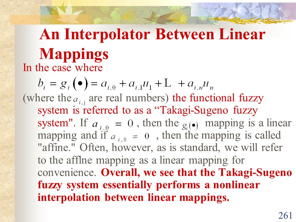 An Interpolator Between Linear Mappings