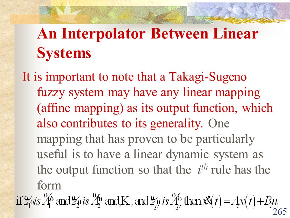 An Interpolator Between Linear Systems