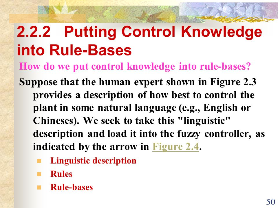 2.2.2 Putting Control Knowledge into Rule-Bases