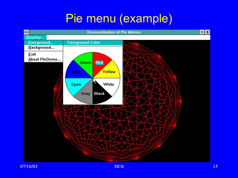 Pie menu (example) 07/10/03 HC6