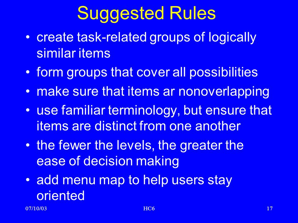 Suggested Rules create task-related groups of logically similar items