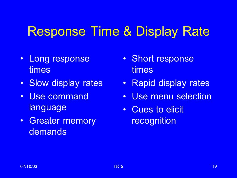 Response Time & Display Rate