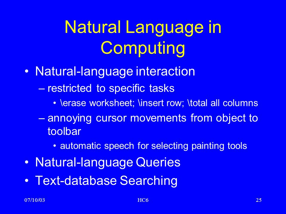 Natural Language in Computing