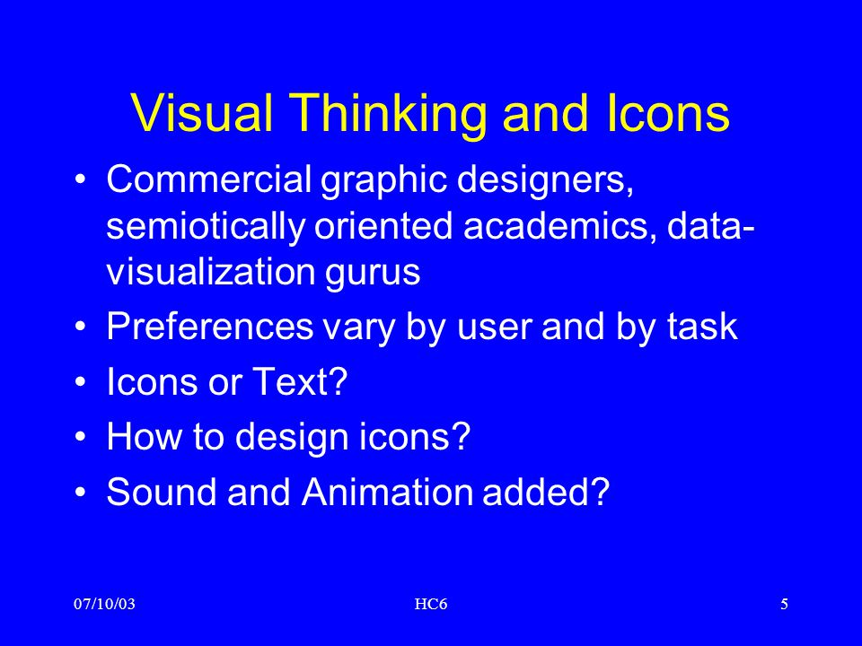 Visual Thinking and Icons