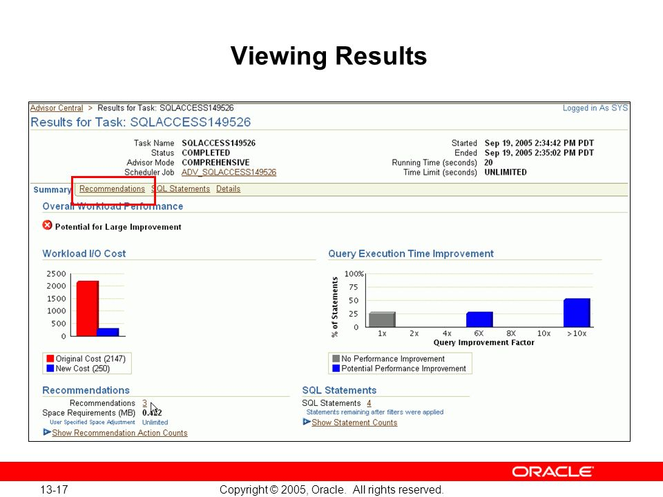 Oracle Database 10g: Implement and Administer a Data Warehouse 13-17