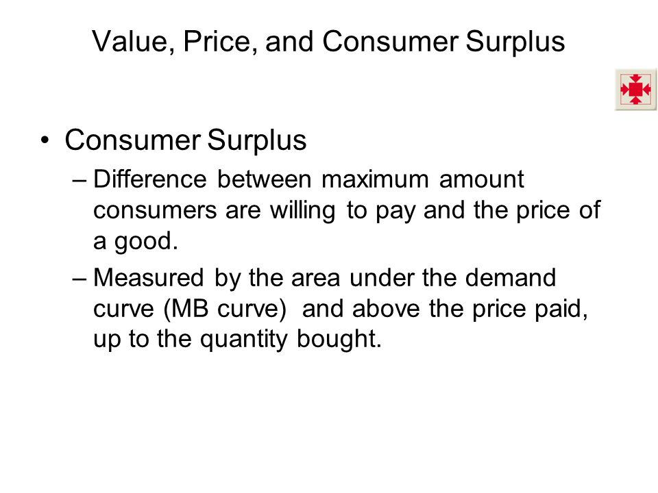 Value, Price, and Consumer Surplus