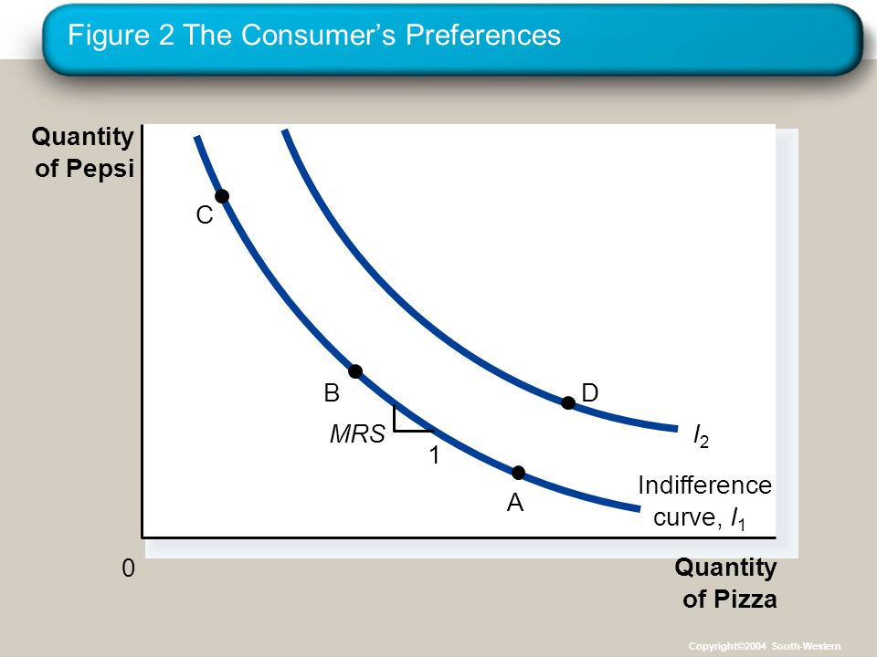 Figure 2 The Consumer's Preferences