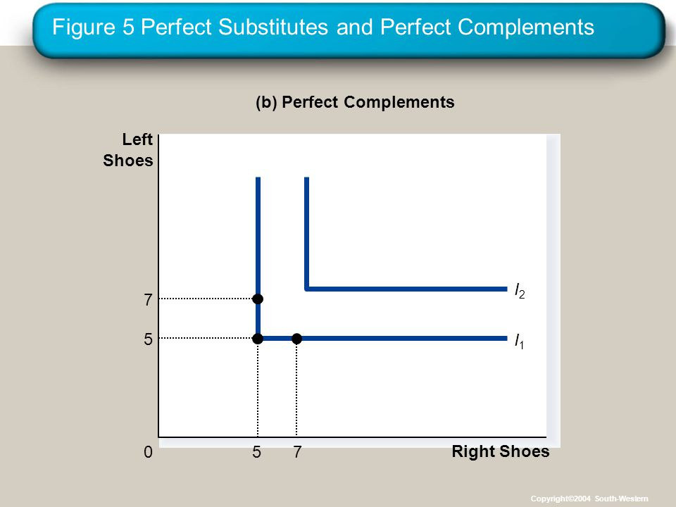 Figure 5 Perfect Substitutes and Perfect Complements