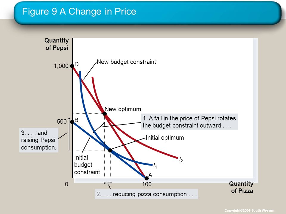Figure 9 A Change in Price