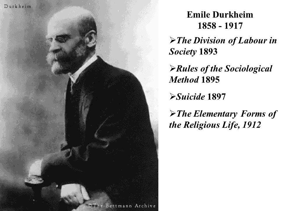 emile durkheim background