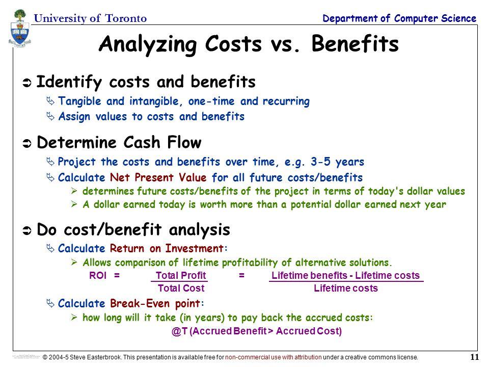 cost benefit analysis calculation pdf