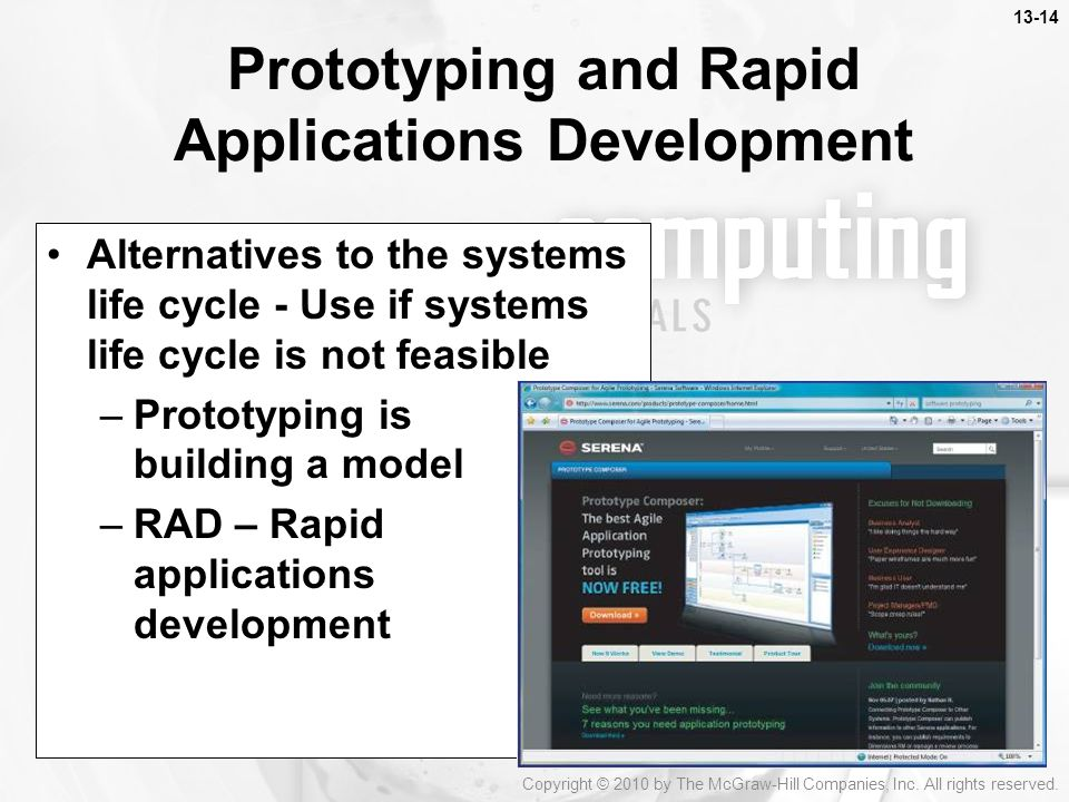 Prototyping and Rapid Applications Development