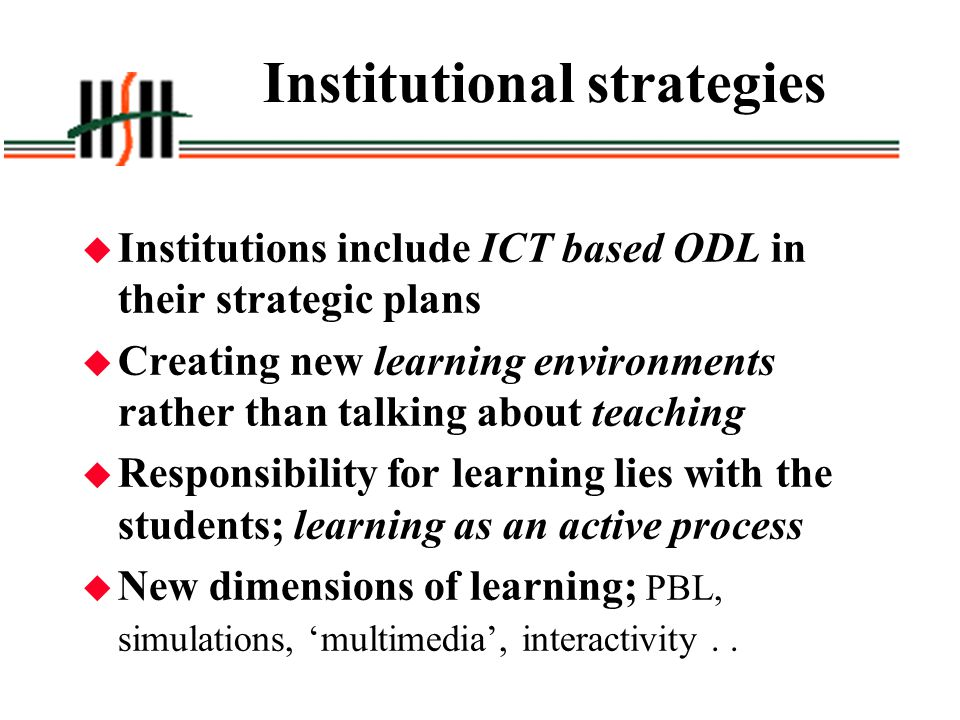 Institutional strategies
