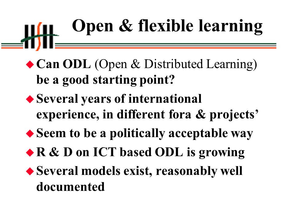 Open & flexible learning
