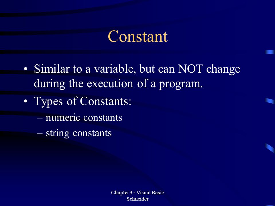 Fundamentals of Programming in Visual Basic - ppt download