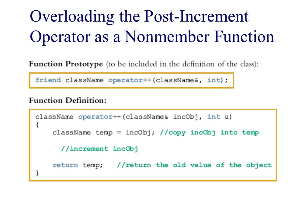 Overloading the Post-Increment Operator as a Nonmember Function