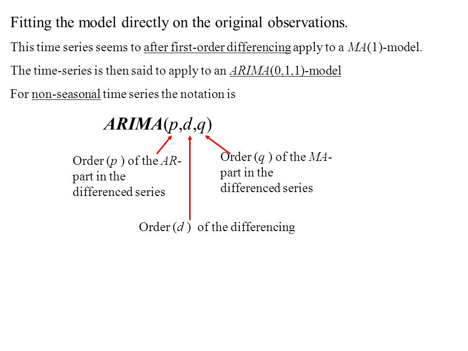 ARIMA-models for non-stationary time series - ppt download